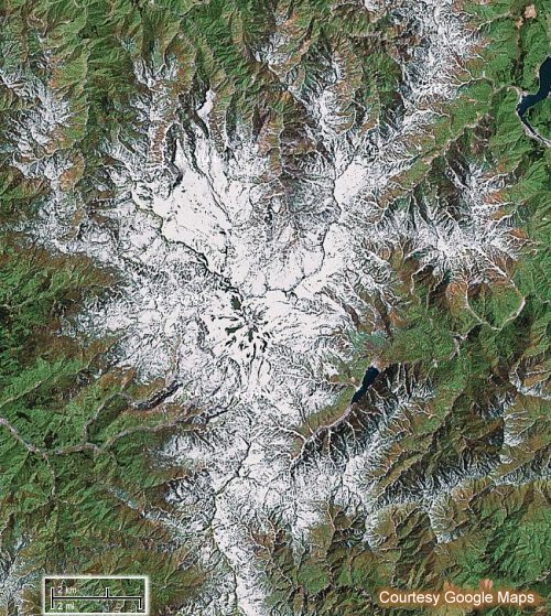 Hakusan -- Satellite View, Google Maps