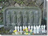 Six Jizo at Hase Kannon in Kamakura