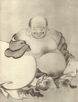 Hotei, by Kano Yukinobu