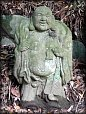Hotei God of Contentment/Happiness, Stone Statue, Early 20th Century.