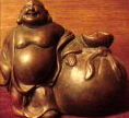 Hotei God of Contentment/Happiness, Bizen Ceramic, Meiji Period