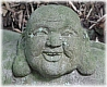 Hotei God of Contentment/Happiness, Stone Statue in Private Kamakura Garden, Early 20th Century