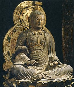 Seated Monju Bosatsu by Jokei 1, Early Kamakura Period