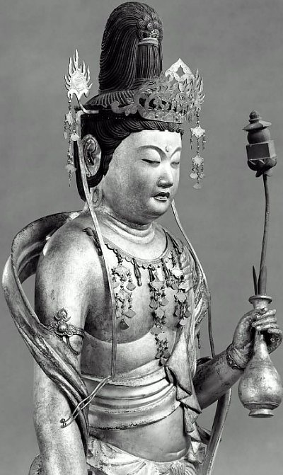 Miroku Bosatsu, by Kaikei. Photo courtesy Museum of Fine Arts, Boston