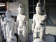 Modern stone statue of Juntei Kannon?? Or maybe Koyasu Kannon ??  Found in Kamakura stone cutters shop
