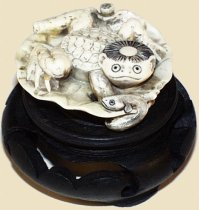Ivory Kappa Netsuke, Early-Mid 20th Century, Courtesy of Hanakago Antiques Trocadero Storefront
