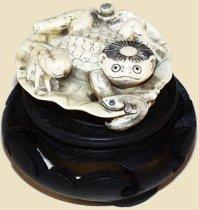 Ivory Kappa Netsuke, Early-Mid 20th Century, Courtesy of Hanakago Antiques Trocadero Storefront