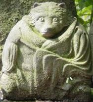Kitsune stone statue at Zuisenji in Kamakura