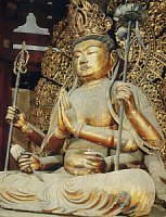 Fukukenjaku Kannon, Lacquer and Gold Leaf over Wood, H348 cm, Dated + 1189, Nanendo, Kofukuji Temple, Nara