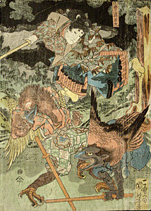 Print by Kuniyoshi - Karasu Tengu (got from web)