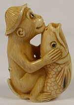 Monkey Fish Japanese Netsuke, Found at Ebay 2004