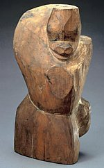 Monkey, Wood, Eastern Han dynasty (25-220 AD), courtesy Miho Museum