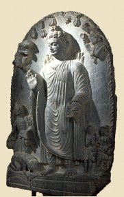 Dapankara, Nendo Butsu, photo courtesy of Miho Museum; 3-4th Century AD, Gandara Area (not Japanese)