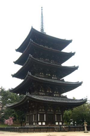 Pagoda at Kofukuji Temple in Nara, photo by Bernhard Scheid