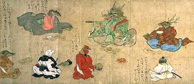 Poetry Contest, Zodiac Emaki, hand scroll, photo courtesy Kyoto Nat'l Museum