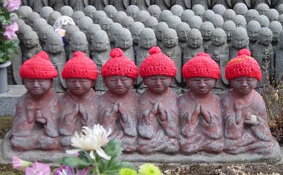 Roku Jizo (Six Jizo) at Hase Dera in Kamakura