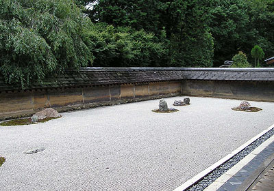 Rock garden at Ryoanji Zen Temple in Kyoto