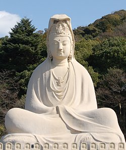 Ryozen Kannon, Big Kannon Statue in Kyoto, Japan