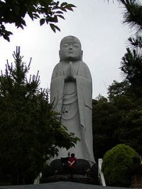 Giant Jizo statue at Osorezan