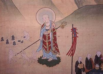 Jizo as depicted in the Tateyama Mandala