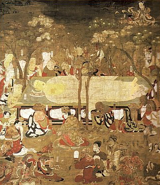 Death of Buddha, 1086 AD, Byodoin