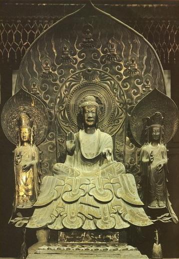 Shaka Trinity, Asuka Era, Horyu-ji, Nara