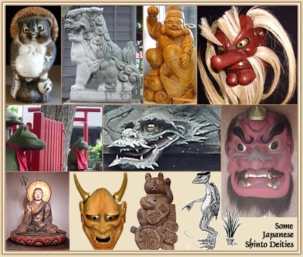 Japanese Shinto Deities, Gods, Kami, Creatures, and Demons