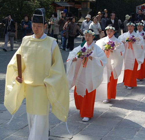 Shinto ceremony at Tsurugaoka Hachimangu Shrine in Kamakura