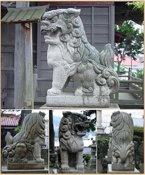 Stone Shishi at Zenyo-in (Inatori City)