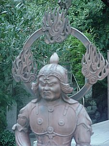 Jikokuten at Hase Dera in Kamakura (metal statue; Shitenno)