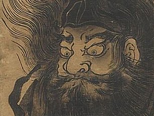 Closeup of woodblock by Toyoharu Utagawa,