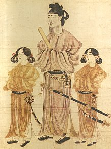 Regent Shotoku Taishi, Patron of Japanese Buddhism (Nara Period Painting)