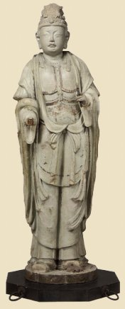 Taishakuten, Clay with gold leaf, Houryu-ji Temple, Nara Era 8th Century