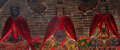 Three Patriarchs, the Buddha, Lao Tsu, and Confucius