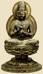 Dainichi Nyorai by Unkei; photo courtesy Comprehensive Dictionary of Japan's National Treasures