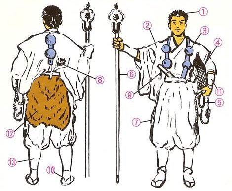 yamabushi-clothing-accessories-CHART-2 Shugendo