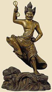 Zao Gongen, Gilt Bronze, 13th Century, now held by Osaka Municipal Museum of Art