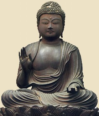 Statue by Zenen, Shaka Nyorai, dated +1225, wood, H = 29cm, todaiji temple treasure
