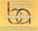 Buddhist-Artwork.com, our sister site, offers online sales of hand-carved wood Buddha statues.